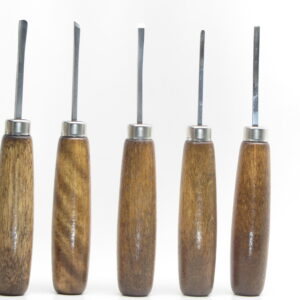Five-piece miniature wood carving tool set from UJ Ramelson